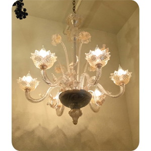 1930s Murano Yellow-clear chandelier